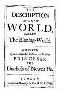 The title page from The Blazing World