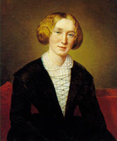 'George Eliot' when she was 30, by François D'Albert Durade
