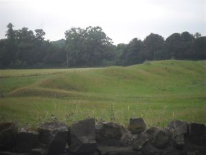 Stanwick Fortifications - it's not the best picture, but it was evening, raining, and my good camera wasn't charged. :)